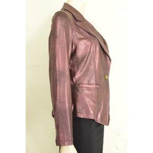 Clara Sun Woo Jackets & Coats - Clara Sun Woo jacket S Wine Signature Liquid Leath
